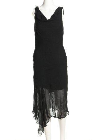 Warehouse Robe mi-longue noir style décontracté