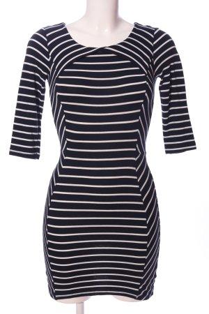 Warehouse Minikleid schwarz-weiß Streifenmuster Casual-Look