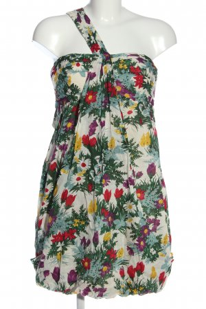 Warehouse One-Shoulder-Kleid Allover-Druck Casual-Look