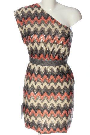 Warehouse One-Shoulder-Kleid Allover-Druck Elegant