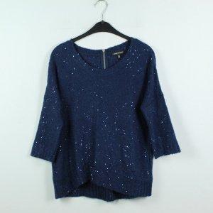 WAREHOUSE Pullover Gr. 38 dunkelblau strahlend