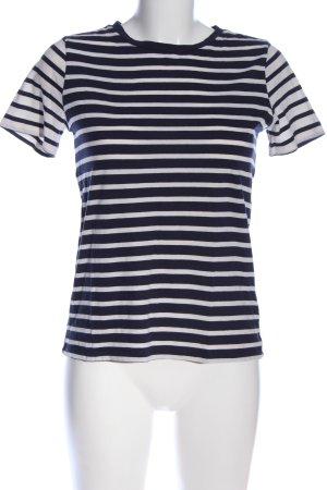Warehouse Ringelshirt schwarz-weiß Streifenmuster Casual-Look