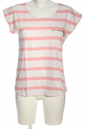 Warehouse Camisa de rayas blanco-rosa moteado look casual