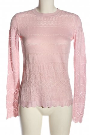 Warehouse Jersey de cuello redondo rosa elegante