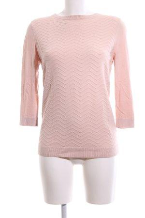 Warehouse Rundhalspullover pink Allover-Druck Casual-Look