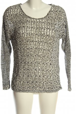 Warehouse Rundhalspullover weiß-schwarz Casual-Look