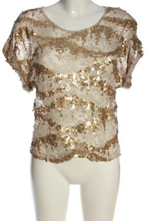 Warehouse Schlupf-Bluse wollweiß-goldfarben Elegant