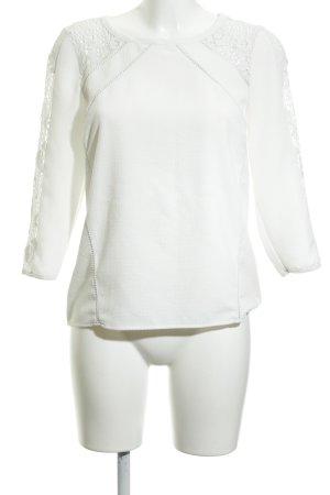 Warehouse Schlupf-Bluse weiß schlichter Stil