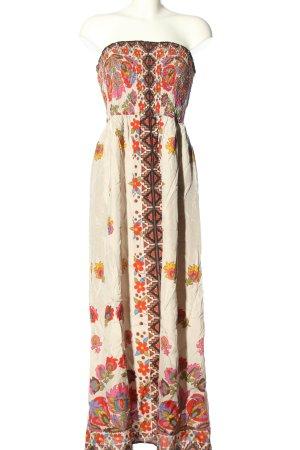 Warehouse schulterfreies Kleid abstraktes Muster Casual-Look