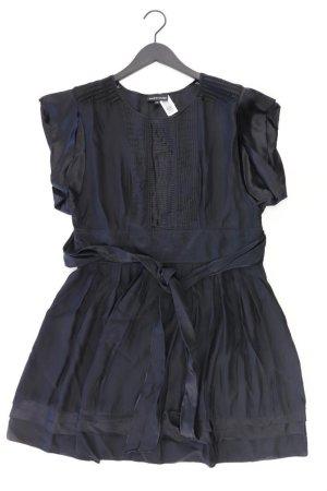 Warehouse Robe à manches courtes noir soie