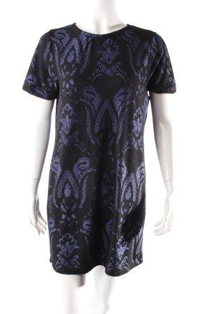 Warehouse Robe t-shirt bleu acier-noir