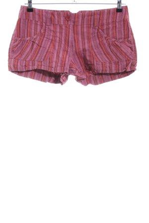 Warehouse Shorts pink-hellorange Streifenmuster Casual-Look