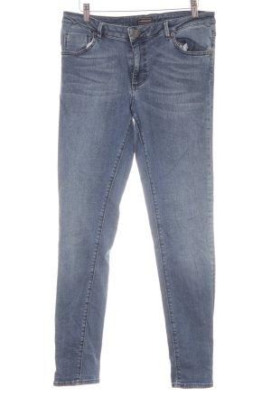 Warehouse Skinny Jeans stahlblau meliert Casual-Look