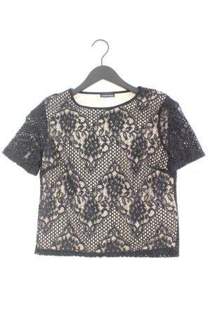 Warehouse Spitzenshirt Größe S Kurzarm schwarz aus Nylon