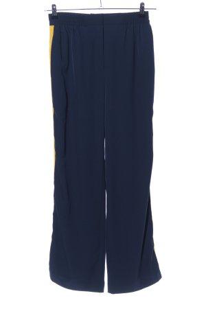 Warehouse Stoffhose blau-blassgelb Streifenmuster Casual-Look