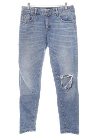 Warehouse Straight-Leg Jeans graublau minimalistischer Stil