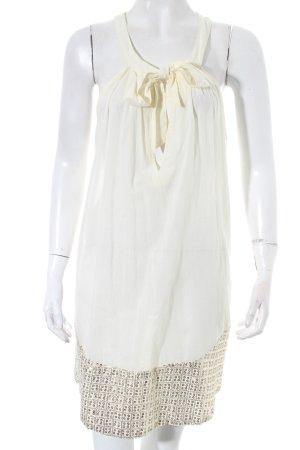 Warehouse Vestido playero blanco puro-color oro elegante