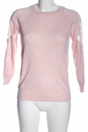 Warehouse Strickpullover pink Casual-Look