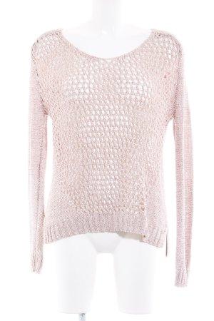 Warehouse Strickshirt rosé-roségoldfarben Casual-Look