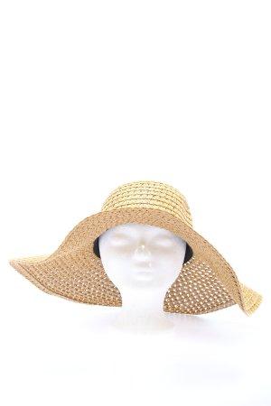 Warehouse Cappello di paglia giallo pallido elegante