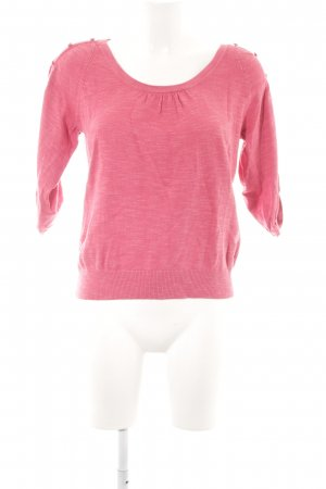Warehouse Sweatshirt magenta meliert Casual-Look