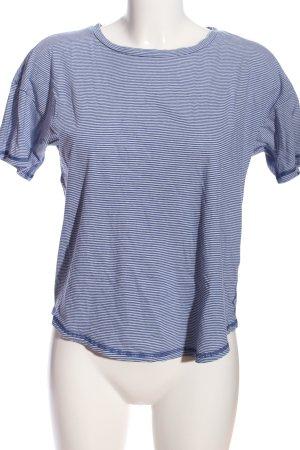 Warehouse T-Shirt blau-weiß Allover-Druck Casual-Look