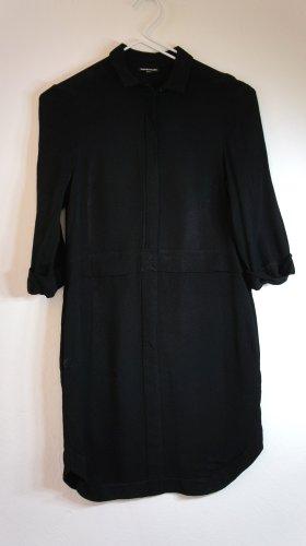 WAREHOUSE Tiefschwarzes knielanges Kleid, Gr. 36