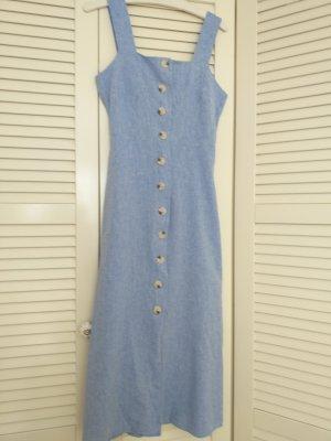 Warehouse Vestido tipo overol azul celeste-azul aciano Lino