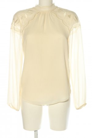 Warehouse Transparenz-Bluse creme Casual-Look
