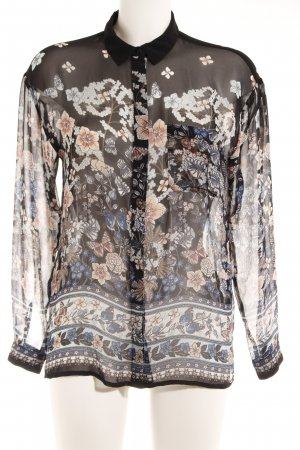Warehouse Transparenz-Bluse Blumenmuster Casual-Look