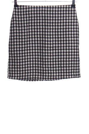 Warehouse Jupe en tweed noir-blanc cassé imprimé allover style d'affaires