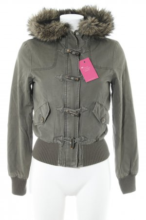Warehouse Übergangsjacke grüngrau Street-Fashion-Look