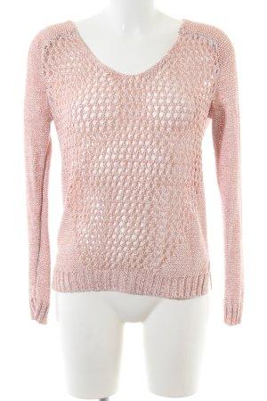Warehouse V-Ausschnitt-Pullover pink Casual-Look
