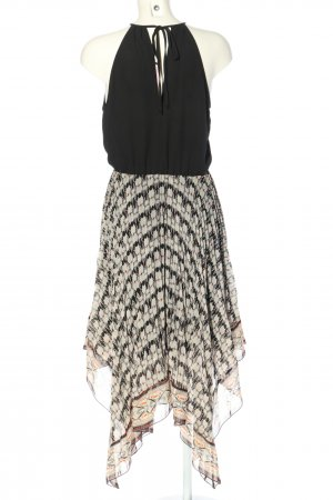 Warehouse High Low Dress black-natural white graphic pattern elegant