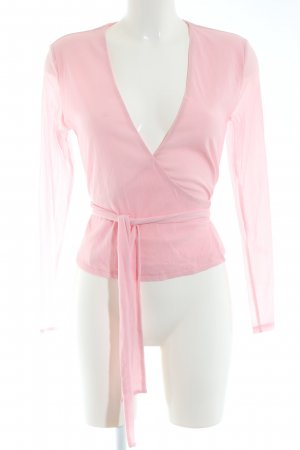 Warehouse Wickel-Bluse pink Casual-Look