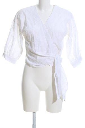 Warehouse Camicetta aderente bianco stile casual