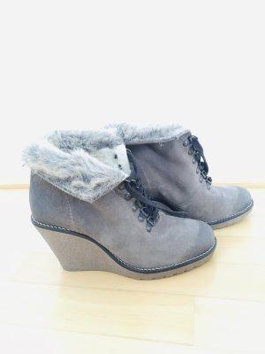 Buffalo Winter Booties grey brown leather
