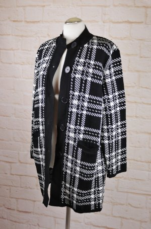 Blue Seven Knitted Coat white-black