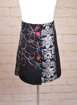 Tweedowa spódnica Wielokolorowy Tkanina z mieszanych włókien