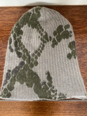 Warm-Me Knitted Hat green grey-light grey