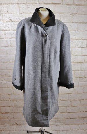 Warm Midimantel Übergangsmantel Canda C&A Größe 46 Grau Hellgrau Wolle Cashmere Wollmantel