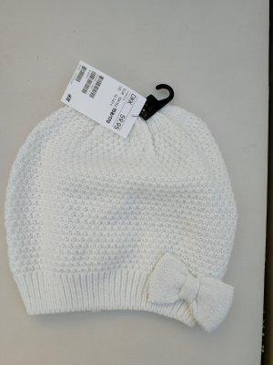 H&M Sombrero de punto blanco