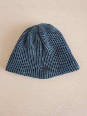 warm weicv Strickmütze Kopfbedeckung grau Pash Mütze Strick Grobstrick