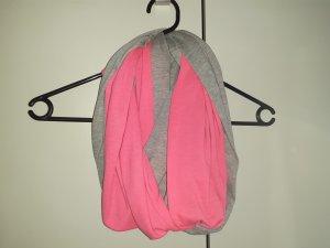 Caperuza gris claro-rosa neón