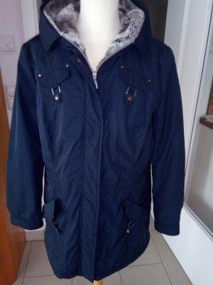 Warme blaue Winterjacke mit Kapuze von Bonita Gr.42
