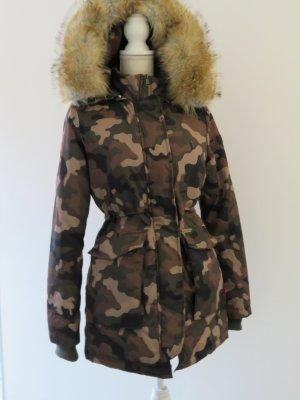 warme Camouflage Winterjacke mit Kapuze (Navahoo Schneeengel)