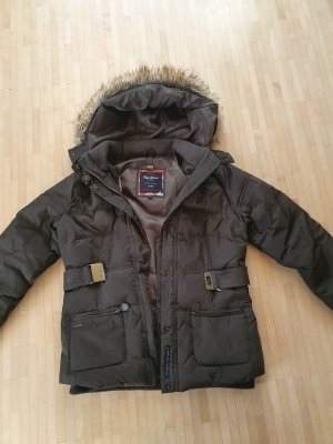 Pepe Jeans Down Jacket green grey-dark green
