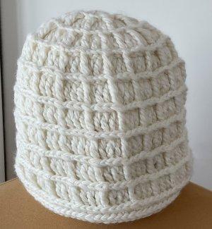 Faustmann Chapeau en tricot beige clair laine