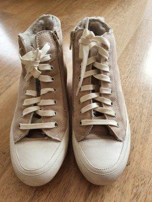 Candice Cooper Basket à lacet gris clair cuir