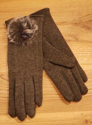 Bont handschoenen veelkleurig Angorawol